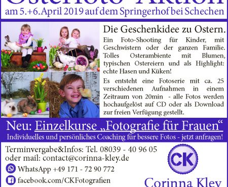 Osterfotoaktion am 5.+6.April 2019